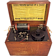 Voltamp Battery No. 3 Wood Case with Accessories Voltamp Electric Mfg Co Baltimore MD