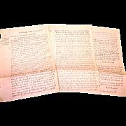 Rowland Langford Correspondence and Deeds 1820-1844 Bradford County Pennsylvania and Tyningham, Massachusetts