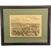 Framed September 27 1862 Harpers Weekly Illustration of Frederick City MD while Occupied by Rebels