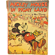 Mickey Mouse in Pigmy Land by Walt Disney 1936 Whitman Publishing Company 1st Edition