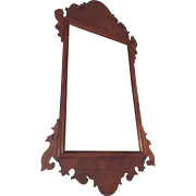 Vintage Chippendale Mirror Beautiful Wood Frame Flat Glass