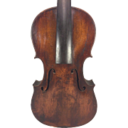 Antique German Violin W&S w/ Lyre Label (Wunderlich) Leipzig Germany 2 Piece Belly 1 Piece Back