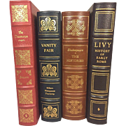 4 Easton Press Leather Bound Books Vanity Fair, The Histories, Livy & The Decameron 1978-1980
