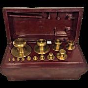 Vtg OHaus Sto A Weigh Brass Weight Set in Bakelite Case 13 Weights 1 gram to 1000 grams