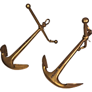 Vintage Brass Ornamental Ship Anchors by Anchor Marine