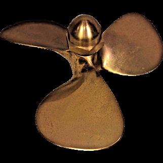 Vintage Brass Boat Propeller