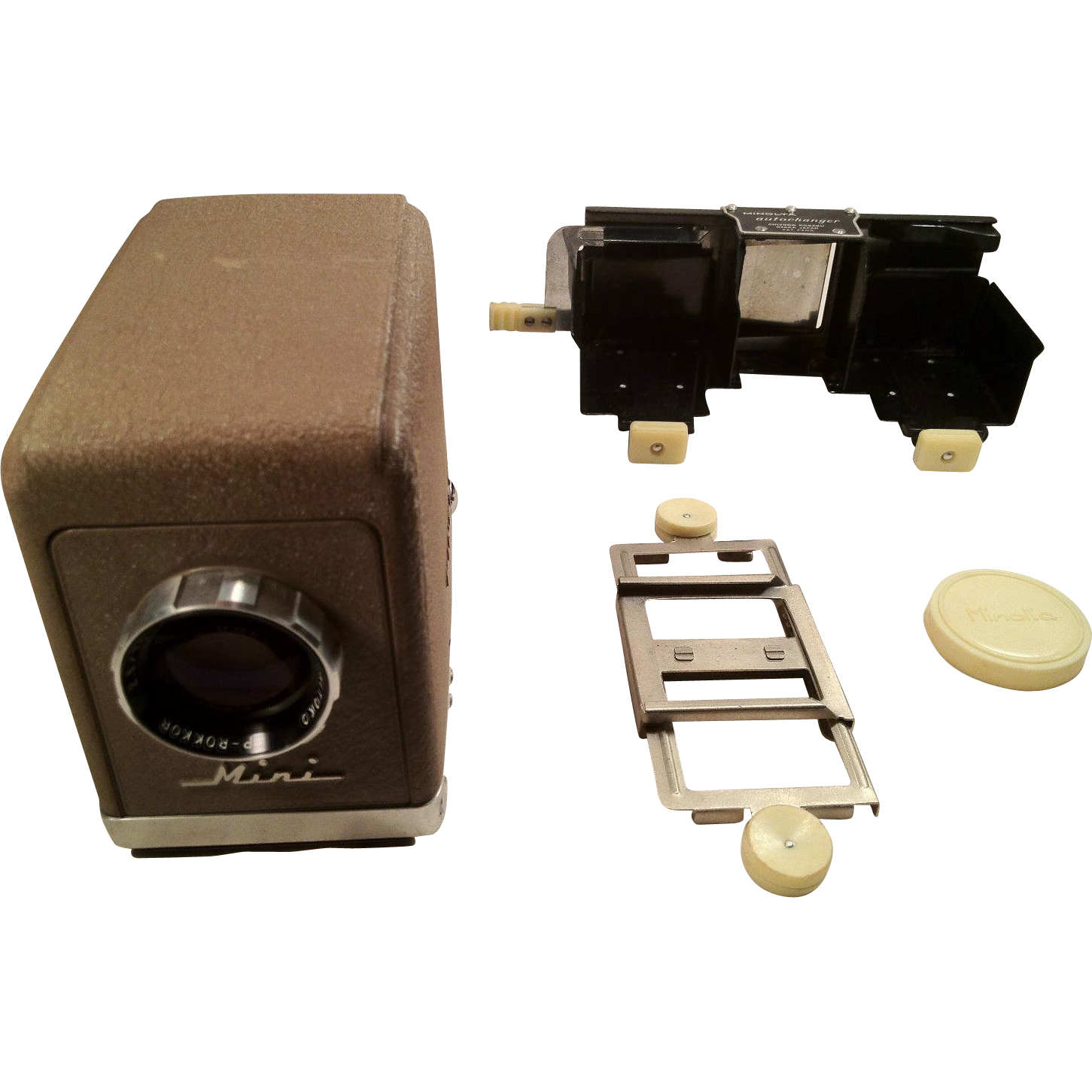 Minolta mini projector with case and instructions 35mm for Pocket projector case