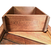 "Antique ""The Indianapolis Kraut Cutter"", Patented April 18, 1905, T.E.D Mfg. Co."