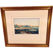 Louis Le Breton Framed Lithograh Engraving Entitled Vue de San Francisco  Item Description