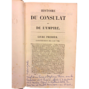 Histoire Du Consulat Et De L' Empire 21 Volumes 1845 Adolphe Thiers  Item Description