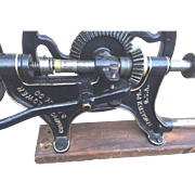 Antique Wall Drill Champion Blower & Forge Co Lancaster PA Great Restoration & Gold/Black Paint Job