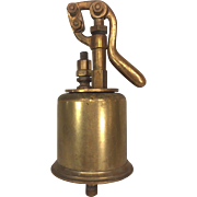 Vintage Brass Marine Ship's Pump WWII Era