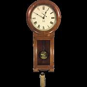 Antique Seth Thomas Regulator No 2 Wall Clock Oak Case Weight Driven Runs Paper Label