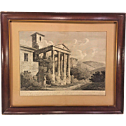 Francesco Morelli Pair of Late 1700s Engraving  Framed & Matted
