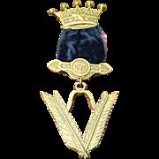 Antique VCM Chest Badge Grand Council Royal Arcanum May 1886