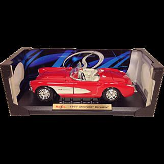 Maisto Special Edition 1957 Chevrolet Corvette Convertible 1/18th Scale Model Car NIB