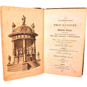 Antique Rare Book The Constitution of Masonry by Thomas Harper 7th Edition 1807