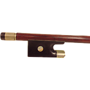 Antique Exquisitely Made Violin Bow Unmarked With Incised Arrow Shaft by Frog