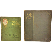 Princess Girlikin or the Fairy Thimble by Ida Preston Nichols 1892 & Rab and His Friends by John Brown MD 1890
