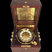 Vintage 1992 Franklin Mint Quartz Ship's Chronometer 500th Anniversary of Columbus Discovering America