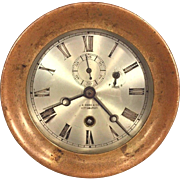 Antique Chelsea Ships Clock Brass Case Time Only Not Running 1905 Low Serial Number