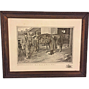 Antique Print of Horse Sale Scene Deacon Perkins & David Harum 1904 by Grunwald