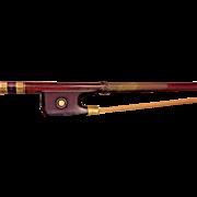 Antique C F Albert Violin Bow Round Shaft  US Maker of Bows & Violins Philadelphia PA