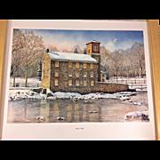 Vintage N Santoleri Limited Edition Print # 22/950 Breck's Mill 2005