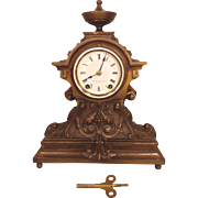 Seth Thomas Clock Bronze Look Case Jeweler Metal  Face Runs and Strikes