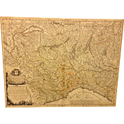 Antique Map of Part of Italy Alta Lombardia e stati ad essa Circonuicini by Giacomo Cantelli Da Vignola 1680 from 1741 Map Book  Item Description