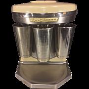 Vintage Sterling Multimixer 5 Head Milkshake Multimixer Model 9B with 3 Stainless Cups Runs Cream Porcelain