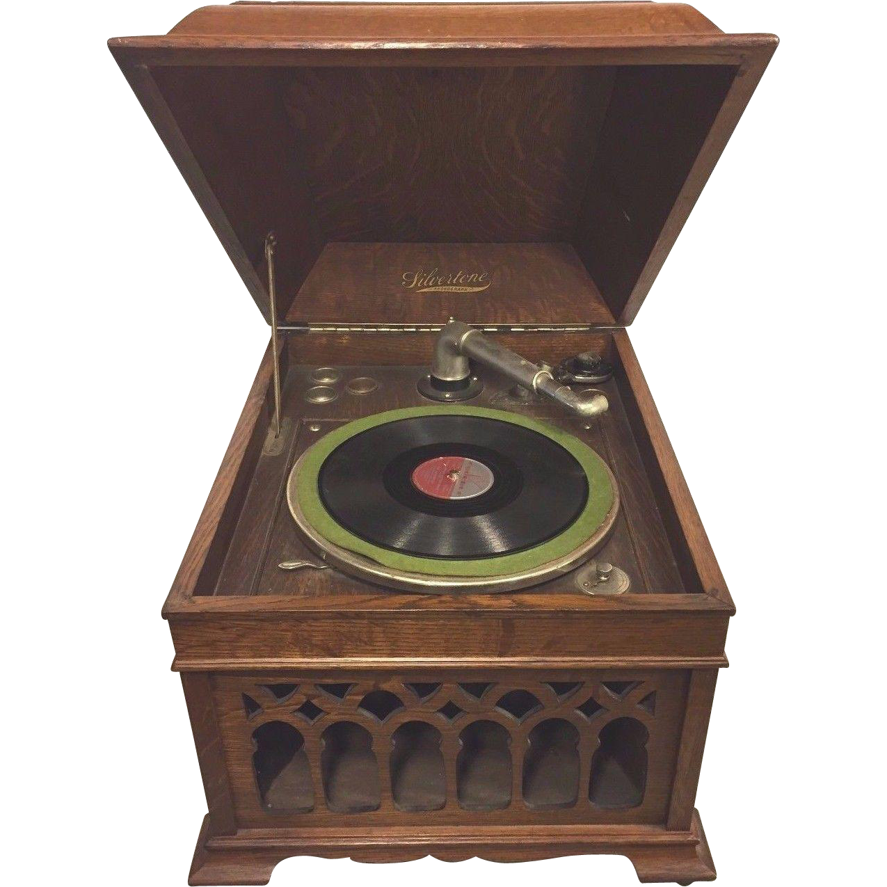 Antique Silvertone Phonograph Runs From Timelesstokensde