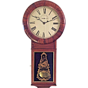 Antique Seth Thomas Regulator No 1 Clock w/ Unique Impressed Pendulum Bob Rosewood Case Locks for Both Doors Work Runs