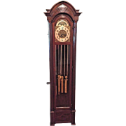 Vintage Hanson Clock Co Grandfather Clock Winterhalder & Hofmeier Mvt 5 Tube  Strike & Westminster Chimes Rockford IL