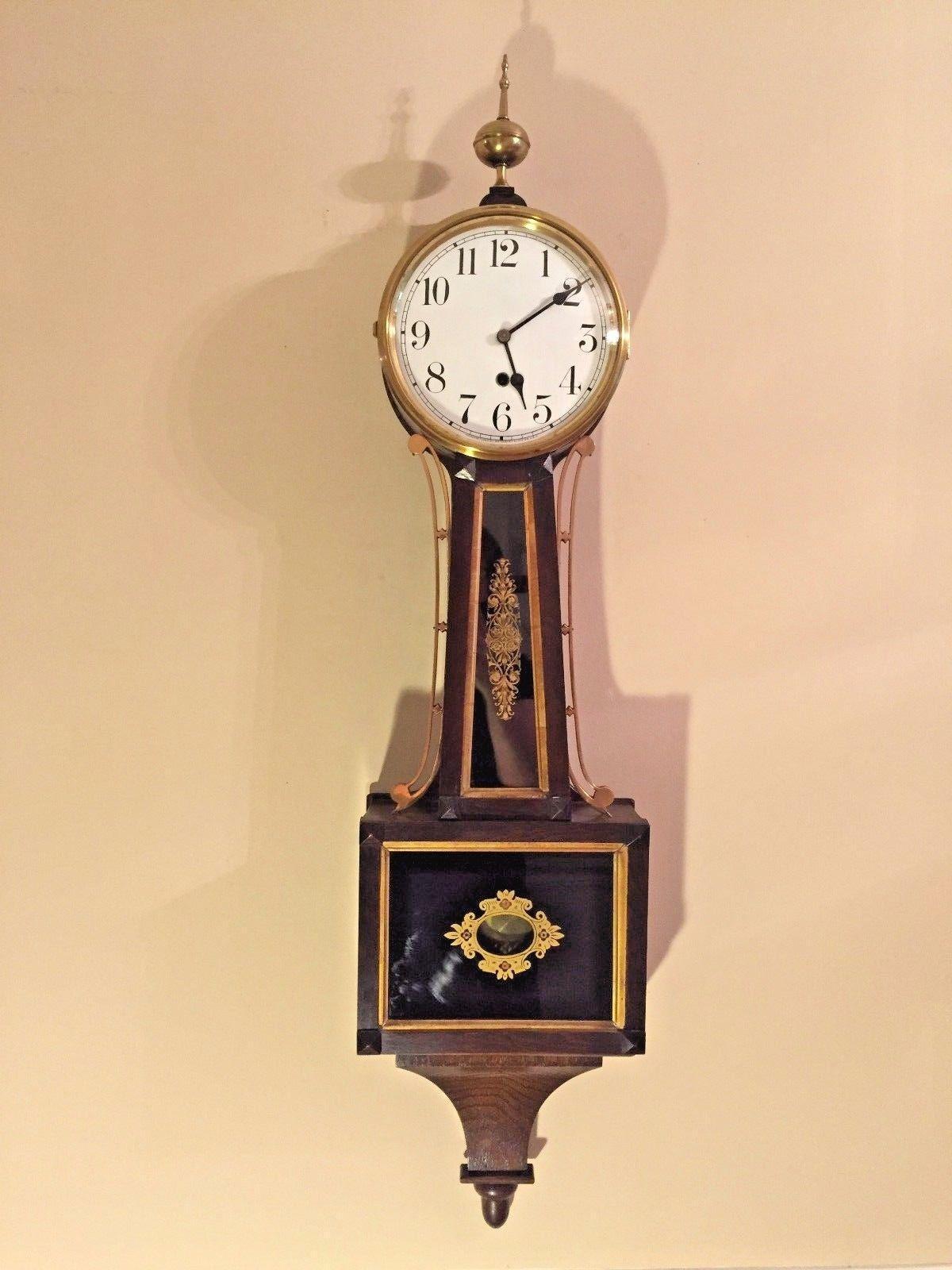 Vintage Waterbury Willard No 1 Banjo Clock Time Only