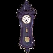 Antique F Kunz Vienna Regulator w/ Carved Foliate Crest Grand Sonniere Gong Running Spring & Weight Driven