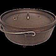 Vintage Lodge 14 Dutch Oven w/ Feet Cast Iron Cookware