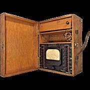 Vtg Supreme Instruments Corp Ohmmeter in Wood Case Model 592