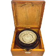 Vintage US Navy Mark II Compass Made by Lionel Corporation Great Case Compass Intact 1943