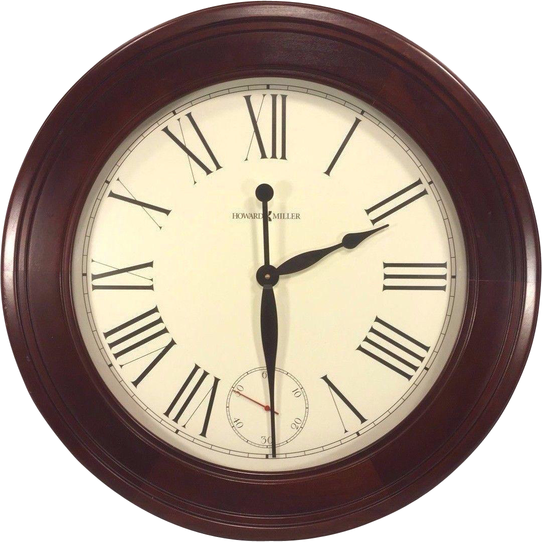 large vintage howard miller wall clock quartz movements