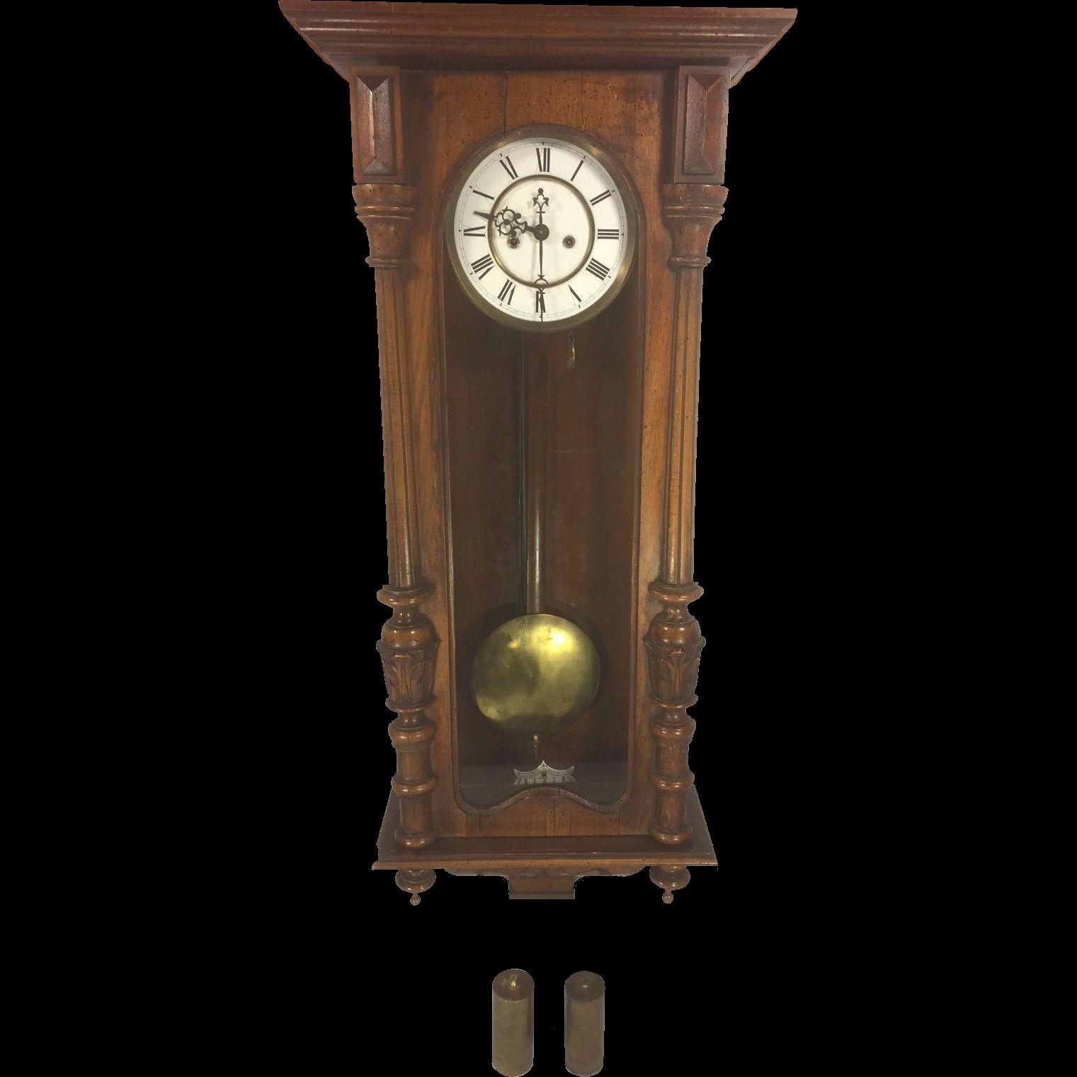 Antique Gustav Becker Vienna Wall Regulator Clock Running & Striking ...