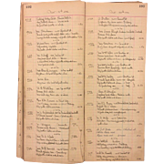 Antique Clock Store Repair Ledger Book May 1930 to Sept 1945 Philadelphia Pennsylvania Area