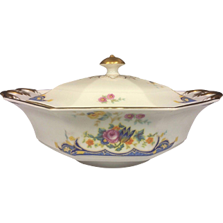 COVERED VEGETABLE BOWL Princess China Belwood Alpena Pattern Bavaria