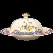 COVERED BUTTER DISH Princess China Belwood Alpena Pattern Bavaria