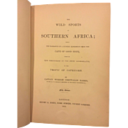 The Wild Sports of Southern Africa by Captain William Cornwallis Harris 1852 26 Colored Plates Folding Map Fifth Edition  1st Edition with 26 Instead of 24 Colored Plates