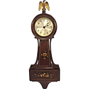 Nice Seth Thomas Mini Banjo Clock to brighten your home with its' look and sound (ticking). See item description and pics below.