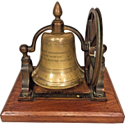 Antique 1893 Columbian Exposition (Chicago) Bronze Liberty Bell w/ Stand and Wood Base McShane Foundry Baltimore MD