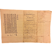 Antique Set of Mid-1700s Scottish Law Documents  Dealing w/ the John Ayton Family and John Duke of Roxborough and Ninian Jeffrey