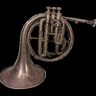 Antique Mellophone Horn Windsor Model Elkhart IN 3 Valves Conn Mouthpiece Serial #  64767 No Case