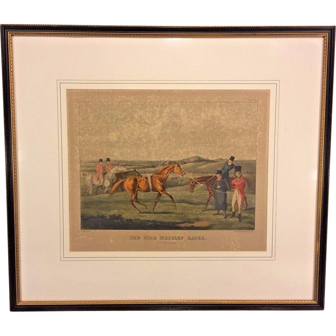 19th Century Horse Racing Lithograph Engraved By H Alken